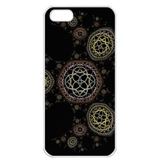 Background Pattern Symmetry Apple Iphone 5 Seamless Case (white)