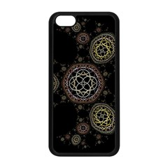 Background Pattern Symmetry Apple Iphone 5c Seamless Case (black)