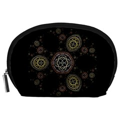 Background Pattern Symmetry Accessory Pouches (large)