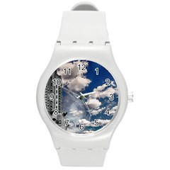 Chrysler Building America New York Round Plastic Sport Watch (m)