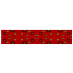 Brown Circle Pattern On Red Flano Scarf (small)