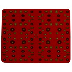 Brown Circle Pattern On Red Jigsaw Puzzle Photo Stand (rectangular)
