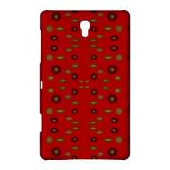 Brown Circle Pattern On Red Samsung Galaxy Tab S (8 4 ) Hardshell Case