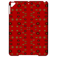 Brown Circle Pattern On Red Apple Ipad Pro 9 7   Hardshell Case