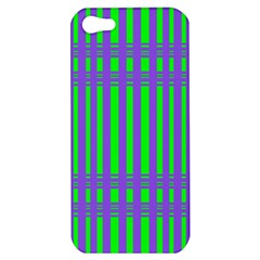 Bright Green Purple Stripes Pattern Apple Iphone 5 Hardshell Case