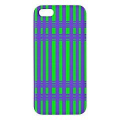 Bright Green Purple Stripes Pattern Iphone 5s/ Se Premium Hardshell Case