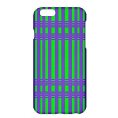 Bright Green Purple Stripes Pattern Apple Iphone 6 Plus/6s Plus Hardshell Case