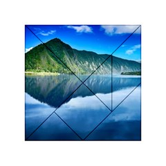 Mountain Water Landscape Nature Acrylic Tangram Puzzle (4  X 4 )