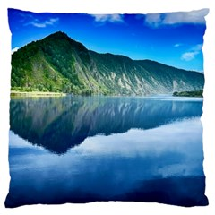 Mountain Water Landscape Nature Large Flano Cushion Case (two Sides)