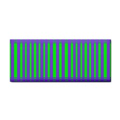 Bright Green Purple Stripes Pattern Cosmetic Storage Cases