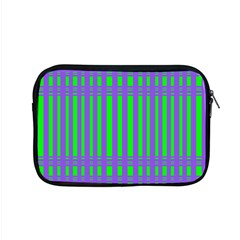 Bright Green Purple Stripes Pattern Apple Macbook Pro 15  Zipper Case