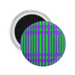 Bright Green Purple Stripes Pattern 2 25  Magnets