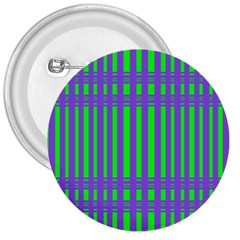 Bright Green Purple Stripes Pattern 3  Buttons