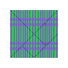 Bright Green Purple Stripes Pattern Acrylic Tangram Puzzle (4  X 4 )