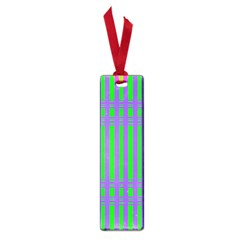 Bright Green Purple Stripes Pattern Small Book Marks