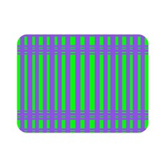 Bright Green Purple Stripes Pattern Double Sided Flano Blanket (mini)