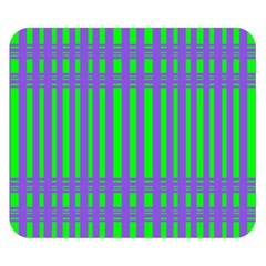 Bright Green Purple Stripes Pattern Double Sided Flano Blanket (small)