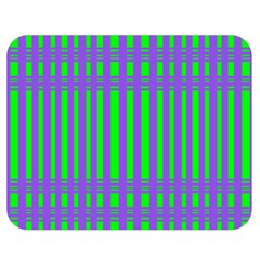 Bright Green Purple Stripes Pattern Double Sided Flano Blanket (medium)