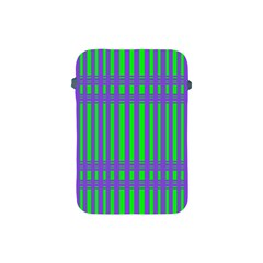 Bright Green Purple Stripes Pattern Apple Ipad Mini Protective Soft Cases