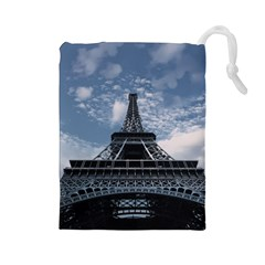 Eiffel Tower France Landmark Drawstring Pouches (large)