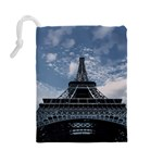 Eiffel Tower France Landmark Drawstring Pouches (Large)  Back