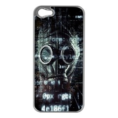 Gas Mask Contamination Contaminated Apple Iphone 5 Case (silver)