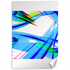 Lines Vibrations Wave Pattern Canvas 12  X 18