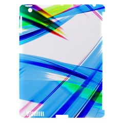 Lines Vibrations Wave Pattern Apple Ipad 3/4 Hardshell Case (compatible With Smart Cover)
