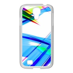 Lines Vibrations Wave Pattern Samsung Galaxy S4 I9500/ I9505 Case (white)