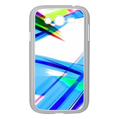 Lines Vibrations Wave Pattern Samsung Galaxy Grand Duos I9082 Case (white)