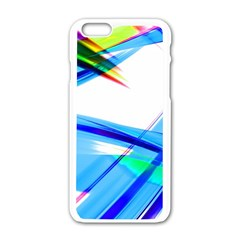 Lines Vibrations Wave Pattern Apple Iphone 6/6s White Enamel Case
