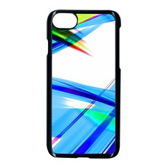 Lines Vibrations Wave Pattern Apple Iphone 8 Seamless Case (black)