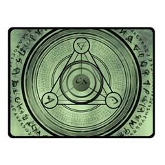 Rune Geometry Sacred Mystic Fleece Blanket (small)