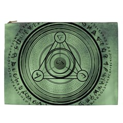 Rune Geometry Sacred Mystic Cosmetic Bag (xxl)