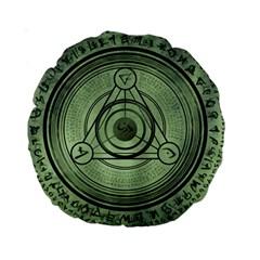 Rune Geometry Sacred Mystic Standard 15  Premium Round Cushions
