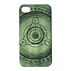 Rune Geometry Sacred Mystic Apple Iphone 4/4s Hardshell Case With Stand