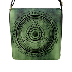 Rune Geometry Sacred Mystic Flap Messenger Bag (l)