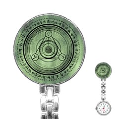 Rune Geometry Sacred Mystic Stainless Steel Nurses Watch