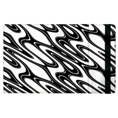 Black And White Wave Abstract Apple Ipad 3/4 Flip Case