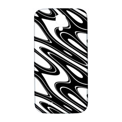 Black And White Wave Abstract Samsung Galaxy S4 I9500/i9505  Hardshell Back Case