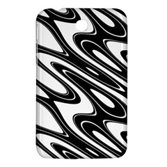 Black And White Wave Abstract Samsung Galaxy Tab 3 (7 ) P3200 Hardshell Case