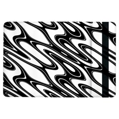 Black And White Wave Abstract Ipad Air Flip