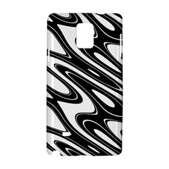 Black And White Wave Abstract Samsung Galaxy Note 4 Hardshell Case
