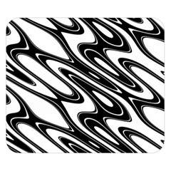 Black And White Wave Abstract Double Sided Flano Blanket (small)
