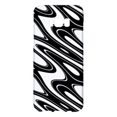 Black And White Wave Abstract Samsung Galaxy S8 Plus Hardshell Case