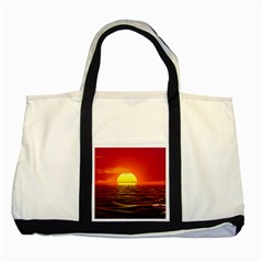 Sunset Ocean Nature Sea Landscape Two Tone Tote Bag