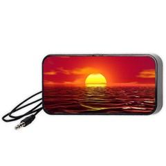 Sunset Ocean Nature Sea Landscape Portable Speaker