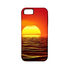 Sunset Ocean Nature Sea Landscape Apple Iphone 5 Classic Hardshell Case (pc+silicone)