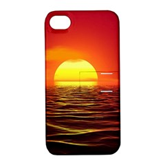 Sunset Ocean Nature Sea Landscape Apple Iphone 4/4s Hardshell Case With Stand