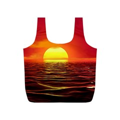 Sunset Ocean Nature Sea Landscape Full Print Recycle Bags (s)